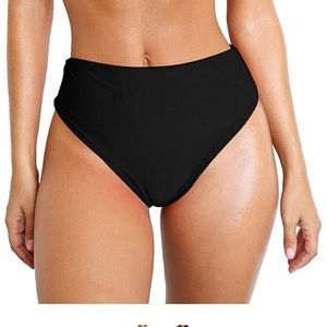 Other - NWOT Black Cheeky Swim Bottoms